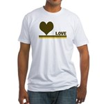 Retro Love Fitted T-Shirt