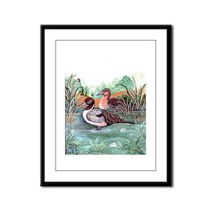 Pond Ducks Framed Panel Print