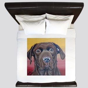 Chocolate Lab Dog King Duvet