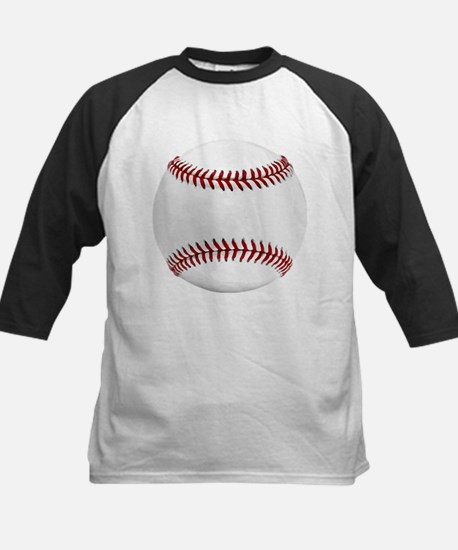 White Round Baseball Red Stitching Baseball Jersey