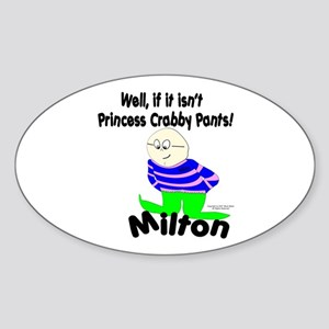 Princess Crabby Pants Oval Sticker