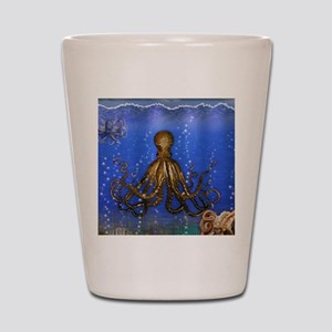 Octopus' Lair - colorful Shot Glass