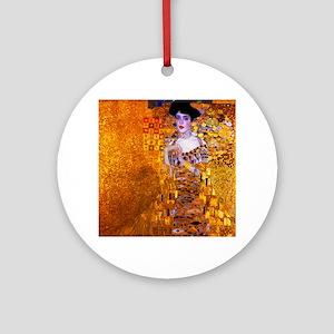 Klimt: Adele Bloch-Bauer I. Round Ornament