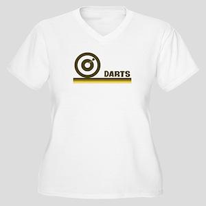 Retro Darts Women's Plus Size V-Neck T-Shirt