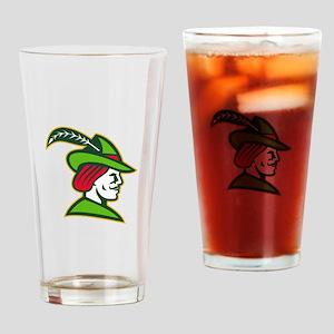 Robin Hood Side Retro Drinking Glass