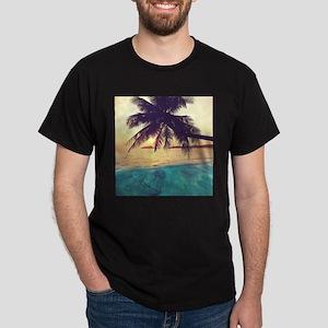 Tropical Beach Dark T-Shirt