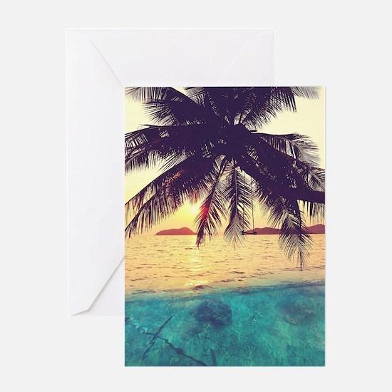 Tropical Beach Greeting Card