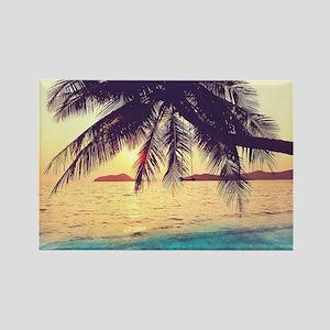 Tropical Beach Rectangle Magnet