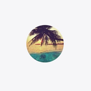 Tropical Beach Mini Button