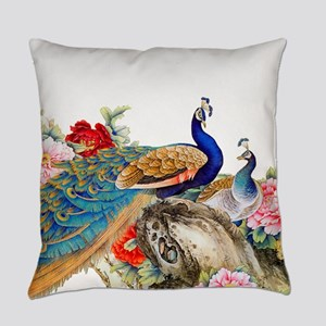Traditional Chinese Peacocks Everyday Pillow