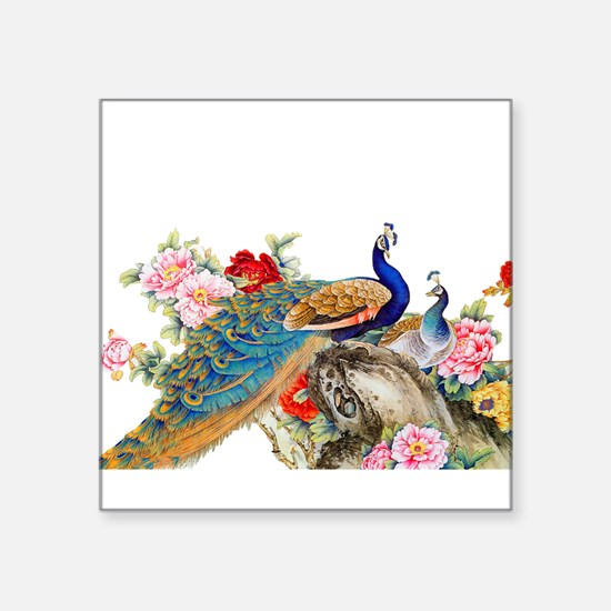 Traditional Chinese Peacocks Sticker