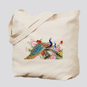 Traditional Chinese Peacocks Tote Bag