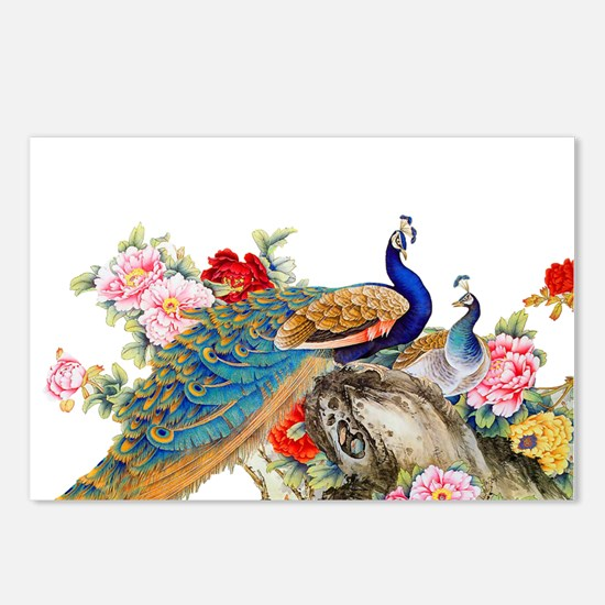 Traditional Chinese Peaco Postcards (Package of 8)