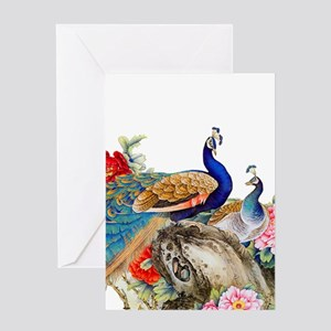 Traditional Chinese Peacocks Greeting Cards