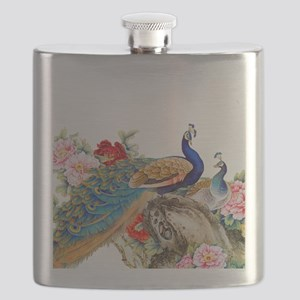 Traditional Chinese Peacocks Flask