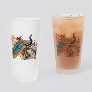 Traditional Chinese Peacocks Drinking Glass