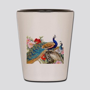 Traditional Chinese Peacocks Shot Glass