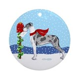 Great dane christmas Round Ornaments