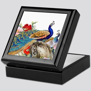 Traditional Chinese Peacocks Keepsake Box