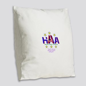 Hermits Burlap Throw Pillow