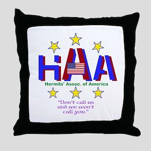 Hermits Throw Pillow