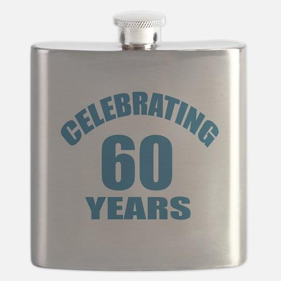 Celebrating 60 Years Birthday Designs Flask