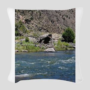 Arkansas River11 Woven Throw Pillow