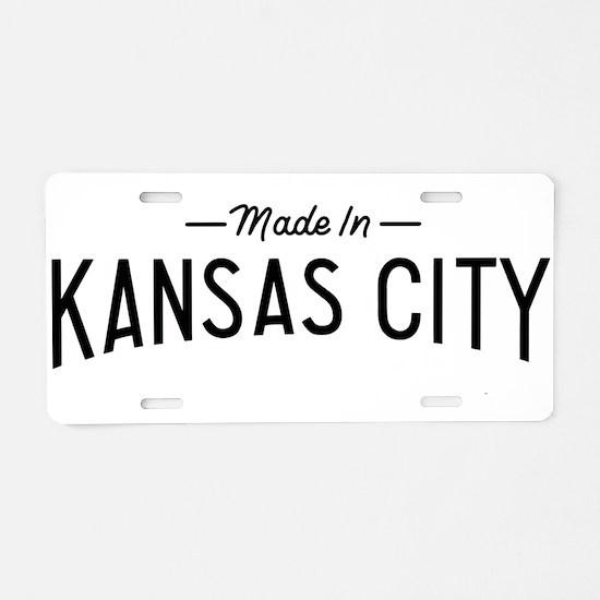 Unique Kansas Aluminum License Plate