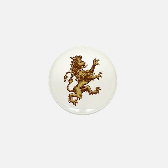 Gold Lion King Mini Button
