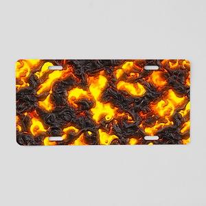 Hot Lava Aluminum License Plate