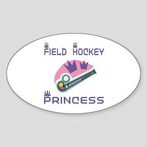 SportChick's HockeyChick Princess Oval Sticker