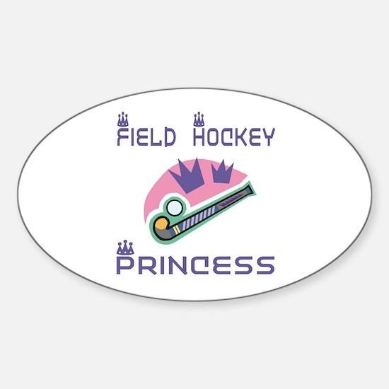 SportChick's HockeyChick Princess Oval Decal