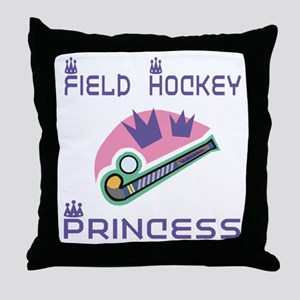 SportChick's HockeyChick Princess Throw Pillow