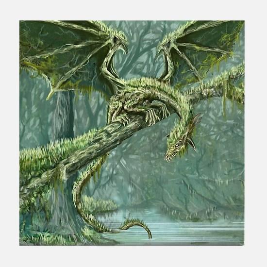Grassy Earth Dragon Tile Coaster