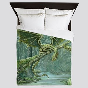 Grassy Earth Dragon Queen Duvet