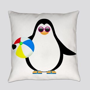 Summertime Penguin Everyday Pillow