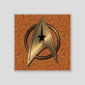 "STARTREK TOS MOV METAL 5 Square Sticker 3"" x 3"""