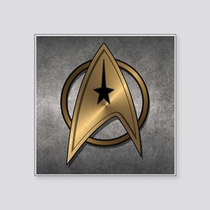 "STARTREK TOS MOV METAL 3 Square Sticker 3"" x 3"""