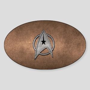 STARTREK TOS MOV METAL 2 Sticker (Oval)