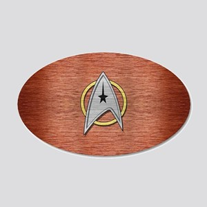STARTREK TOS MOV METAL 1 20x12 Oval Wall Decal