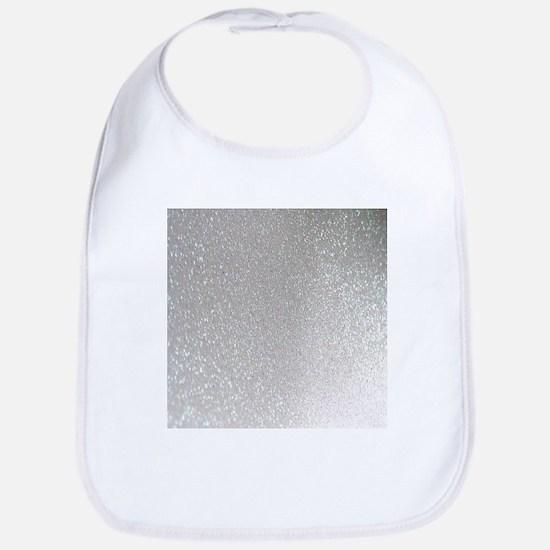 metalic pearl silver glitter Bib