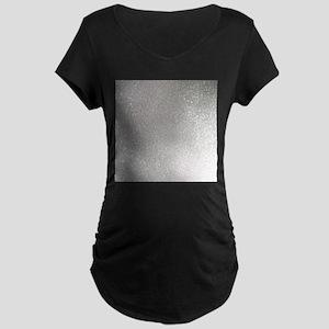 metalic pearl silver glitter Maternity T-Shirt