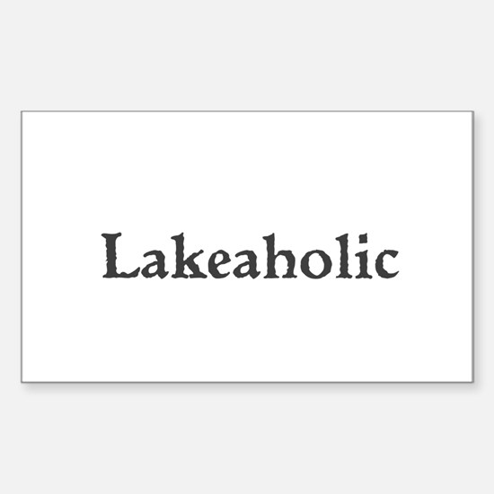 Lakeaholic Decal