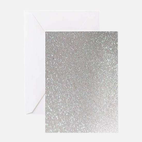 metalic pearl silver glitter Greeting Cards