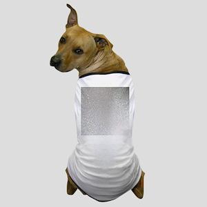 metalic pearl silver glitter Dog T-Shirt
