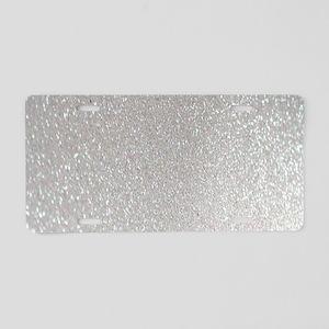 metalic pearl silver glitte Aluminum License Plate