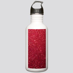 Girly Chic Red Glitter Stainless Water Bottle 1.0L