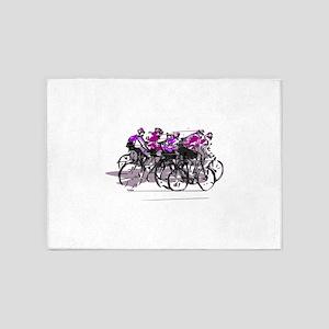 Cyclists 5'x7'Area Rug