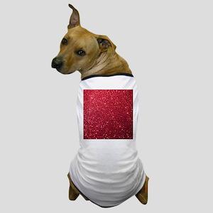 Girly Chic Red Glitter Dog T-Shirt