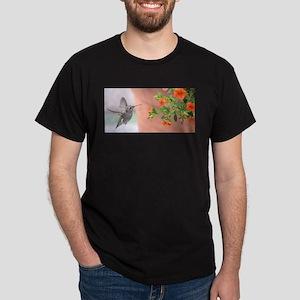 Hummingbird and orange flowers T-Shirt